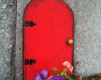 Fairy Garden, Fairy Door, Gift for her, Mothers Day, Outdoor, Garden Decor, Gift, Red, Garden, Outdoor, Birthday Gift, Housewarming, Wall