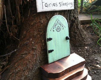 Fairy Garden, Fairy Door, Birthday, Gifts for her,  Garden Fairies, Tree, Outdoor, Green, Housewarming, Garden, Miniature Garden, Wholesale