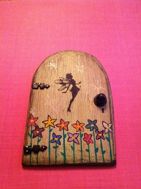 Fairy door hand painted tooth fairy doormagicluckyfantasy for Painted fairy doors