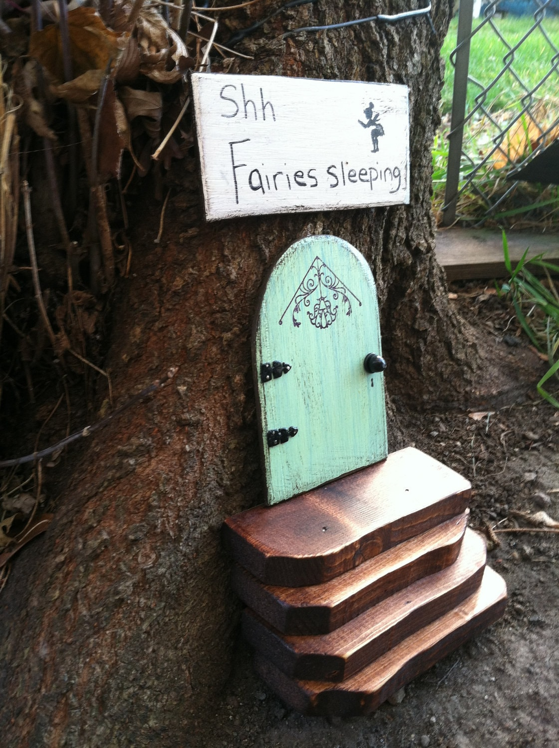 Fairy garden fairy door birthday gifts for her garden for Outdoor fairy door
