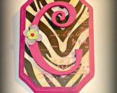 Decorative Letters/Initials/Wood Wall Plaque/ Zebra Print
