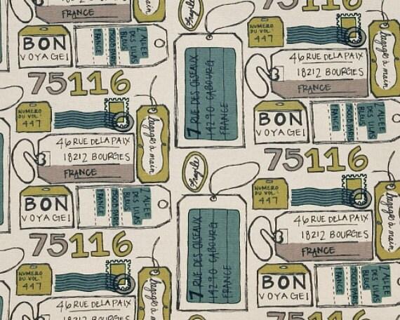 LAST YARD -  Air Mail Felix / Natural   - Premier Prints   - Home Decor Fabric