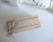 Burlap Place Cards  Bridal Shower place cards  DIY  Wedding  Shabby Chic Rustic Vineyard