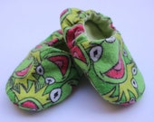 Kermit the Frog Baby Booties