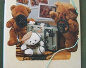 80s Bear Family Folder Vintage Ring Binder Kawaii File Dossier Stationery GVS team