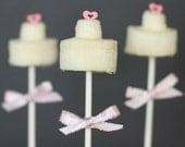 12 Wedding Cake Mallow Pops