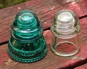 Vintage Glass Insulators - Industrial Salvage - Gift for Him