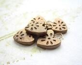 Heart charms, bronze heart charms, handmade bronze charms - 1 CHARM