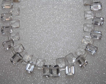 Natural AAA Quality Crystal 5X8mm Cut Octagon Gemstone Beads 7 Inches SA006