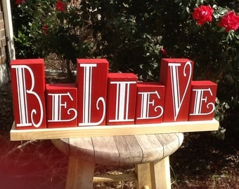 Believe wood block set