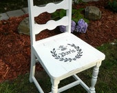 Shabby Chic White Painted Dining Chair