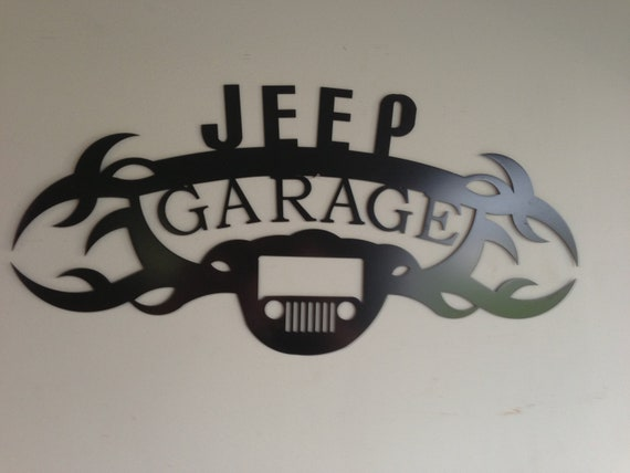 Items similar to jeep wrangler garage sign on etsy for Garage jeep nantes