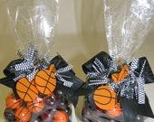 5-Basketball Chocolate and Sours Candy Bag