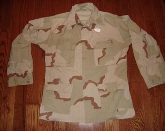 US Military Issue Desert Camo Jacket, DCU Shirt - Size Medium - Long No. 1