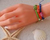 Colorful Skull Bracelets - Macrame Bracelets - Summer Style - Beach - Summer - Friendship Bracelet