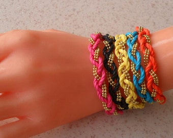 Friendship Bracelets - Choose Only ONE - 5 different colors