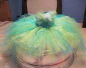 Glitter Mermaid Bustle Tutu Dress-Candy Apple Green and Aqua