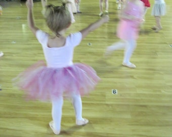 FREE Shipping...Dance Class Tutus...you pick your colors---size 3/4T
