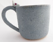 Blue Snow Bunny Ceramic Cup