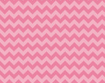 Small Tone on Tone Pink Chevron: Riley Blake Designs - 1 Yard Cut