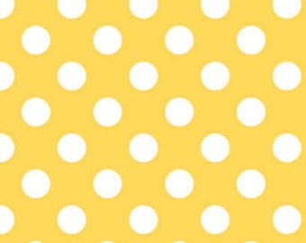 Medium Dots in Yellow Riley Blake 1/2 Yard Cut