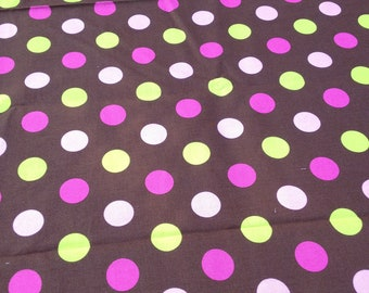 """60""""Candy Land Round Brown with Polka Dots"""