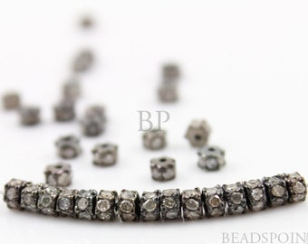 Pave Diamond Spacer, 3 mm, Pave Diamond Spacer wheel,  Diamond Roundelle, 1 Piece, Sold INDIVIDUALLY, Just buy as many you need (DF/RND3)