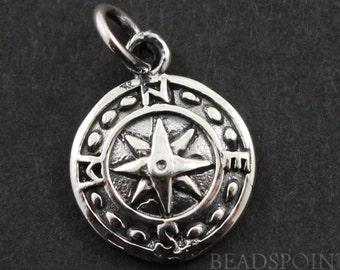 Sterling Silver, Nautical Charm / Pendant with Jump Ring, Jewelry Component Finding, 1 Piece (SS/CH10/CR28)