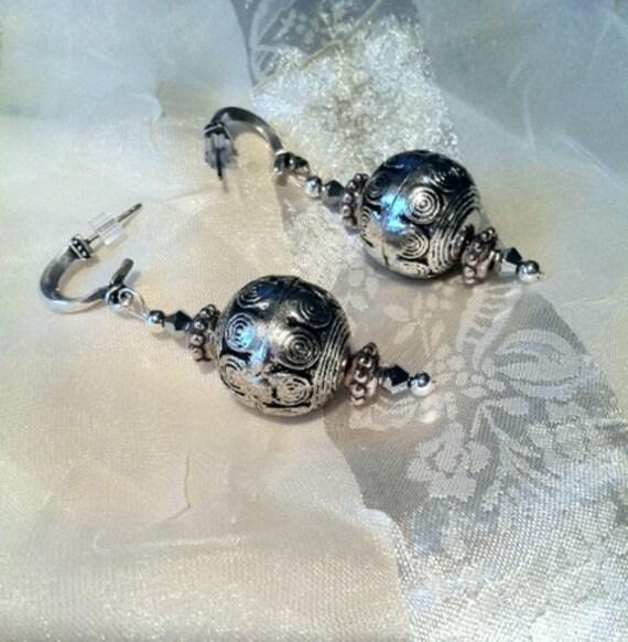 Beautiful Byzantine Ball Earrings