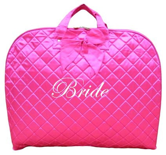 Personalized monogrammed hanging garment bags bridal party gift wedding bag honeymoon luggage women travel gifts bachelorette party favor