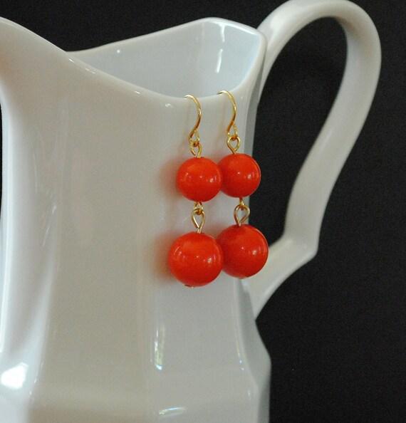 The Janelle Earrings - Orange