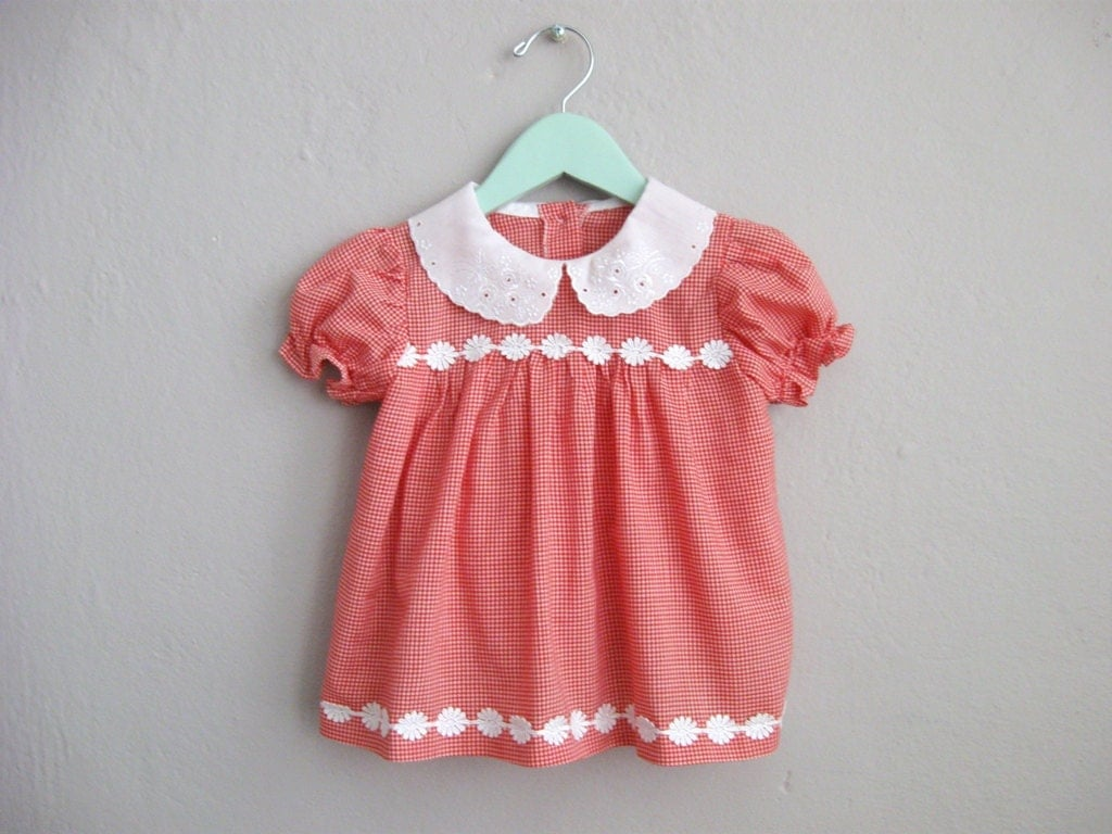 Vintage Dress Baby Girl Peter Pan Collar Dress With Bloomers
