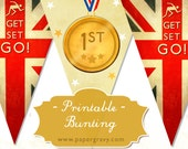 PRINTABLE Union Jack Party British BUNTING