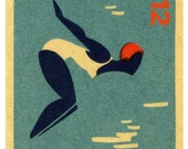 London 2012 Olympic diver, A3 giclee poster print