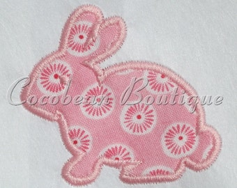 Cute bunny embroidery applique