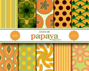 papaya papers The papaya is a small, sparsely branched plant, usually with a single stem growing from 5 to 10 m (16 to 33 ft) tall, with spirally arranged leaves confined to the top of the trunk.