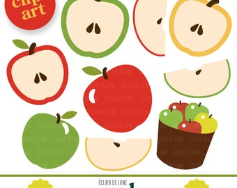 Apple Clip Art Fruit Green Red Clipart