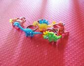 Dinosaur Rings -- 5 Styles -- Adjustable-- Glittery
