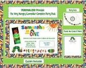 Personalized DIY Printable Very Hungry Caterpillar Party Package