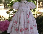 American Girl Doll Clothing - Pink Dress with an antique slip