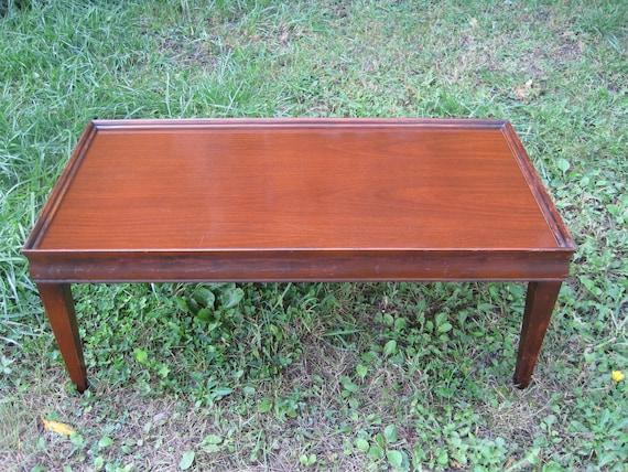 Small Wood Vintage Coffee Table