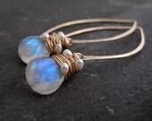 Moonstone Wedding Earrings, Wedding Pearl Earrings