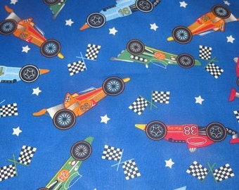 2 yards of racecar fabric