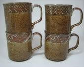 4 Takahashi Stoneware Mugs
