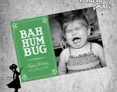 Holiday Photo Card - BAH HUMBUG Printable