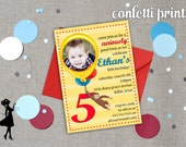 CURIOUS GEORGE Birthday Invitation / Photo Card Printable