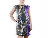 NICOLOSI Oil Spill.......digital print silk dress Sz. XS