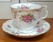 Tranquility Royal Albert Cup and Saucer - Made in England