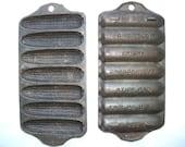 Pair of Cast Iron Corn Pans - Griswold Erie, PA No. 262