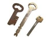 Three (3) Vintage Antique Old Skeleton Keys - Romantic & Elegant for Wedding Decor, Favors, Escort Cards and Crafts